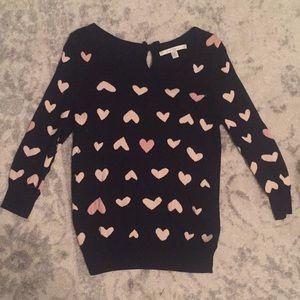 LC Lauren Conrad Heart Sweater